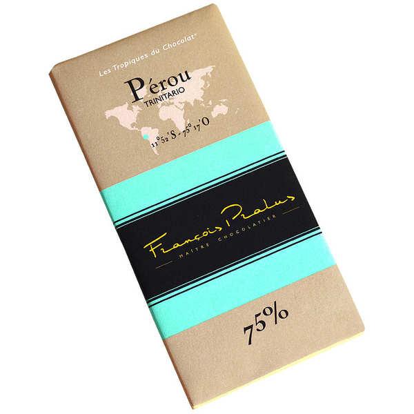Chocolats François Pralus Tablette chocolat noir Pérou - Trinitario 75% - Tablette 100g