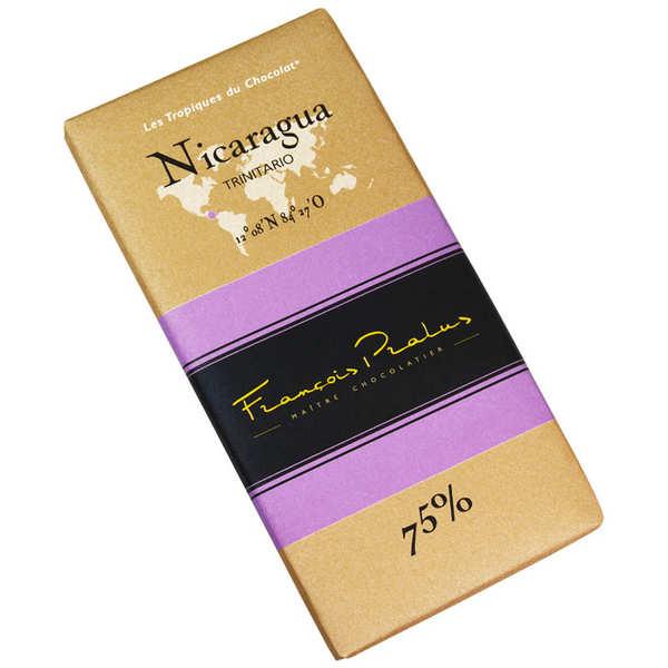 Chocolats François Pralus Tablette chocolat noir Nicaragua - Trinitario 75% - Tablette 100g