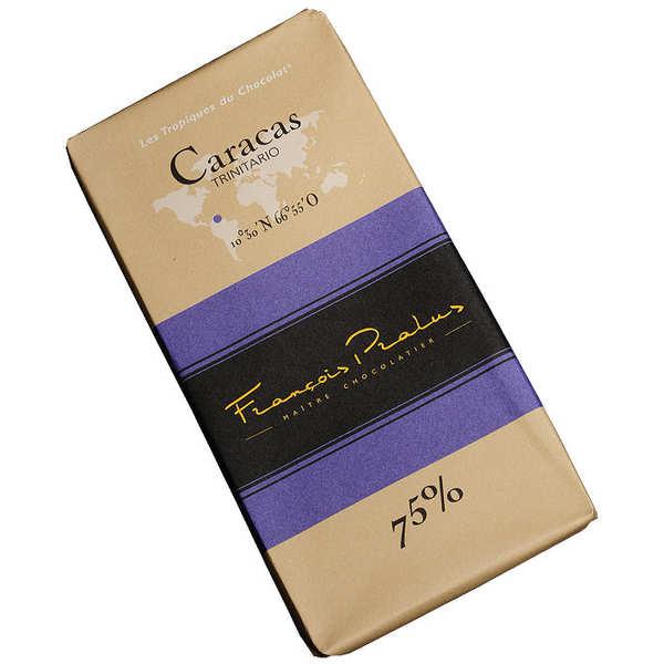 Chocolats François Pralus Tablette chocolat noir Caracas - Trinitario & Forastero 75% - Tablette 100g