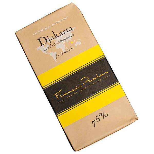 Chocolats François Pralus Tablette chocolat noir Djakarta - Criollo& Forastero 75% - Tablette 100g