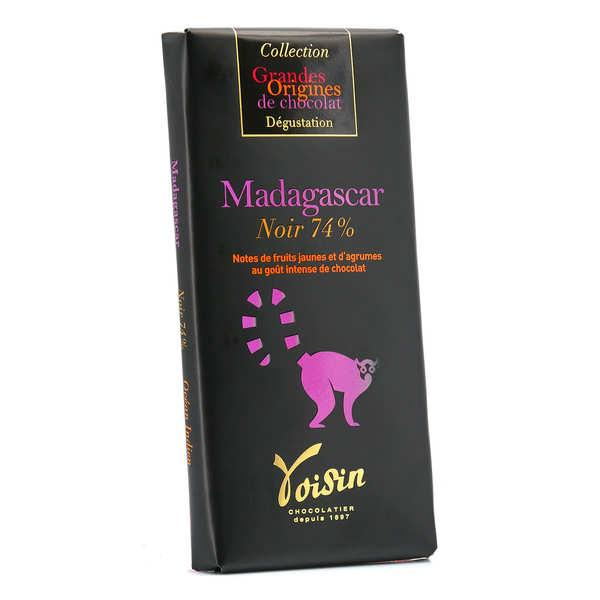 Voisin chocolatier torréfacteur Tablette chocolat noir Madagascar 74% - Voisin - Tablette 100g