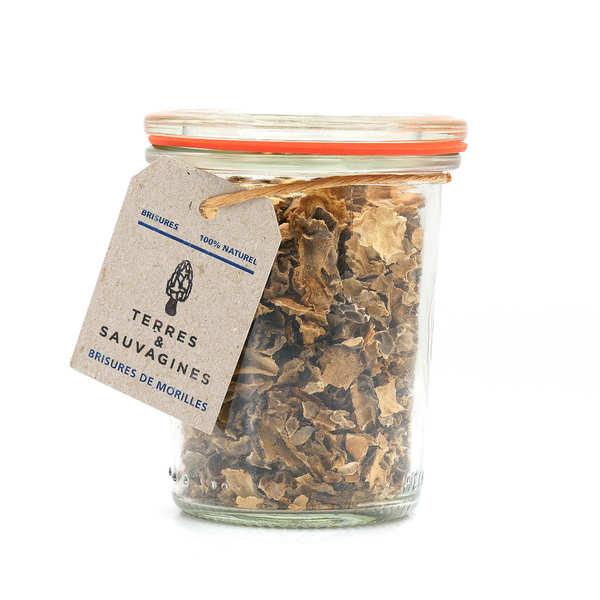 Terres & Sauvagines Brisures de morilles séchées - Bocal en verre 30g