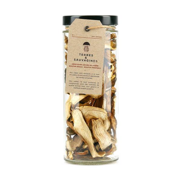 Terres & Sauvagines Cèpes séchées extra - Bocal en verre 100g