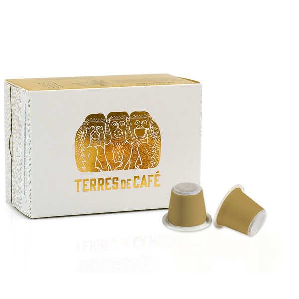 Terres de Café Café Colombie Planadas bio - capsules compatibles Nespresso® - Boîte de 10 capsules