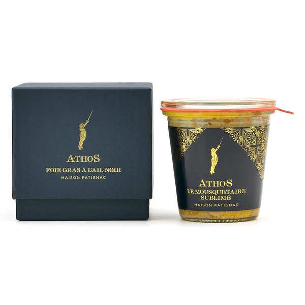 Maison Patignac Foie gras de canard entier à l'ail noir - Bocal et écrin 200g