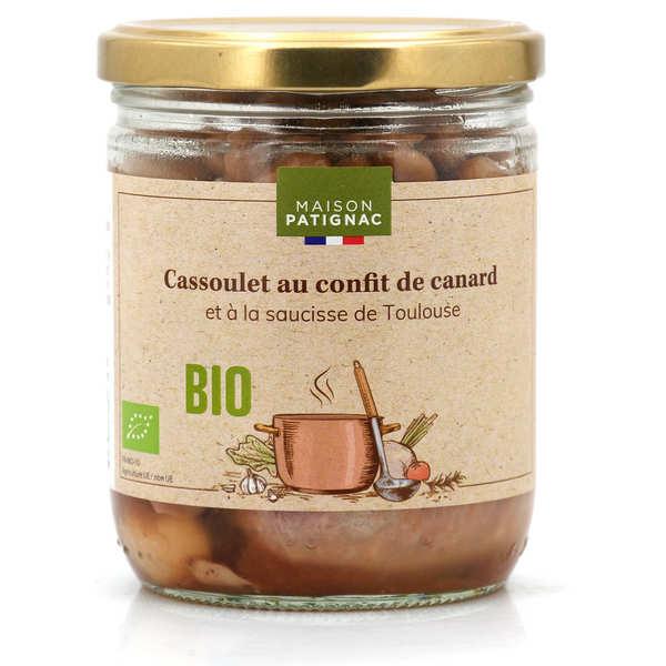 Maison Patignac Cassoulet au canard confit et à la saucisse de Toulouse bio - Bocal 350g