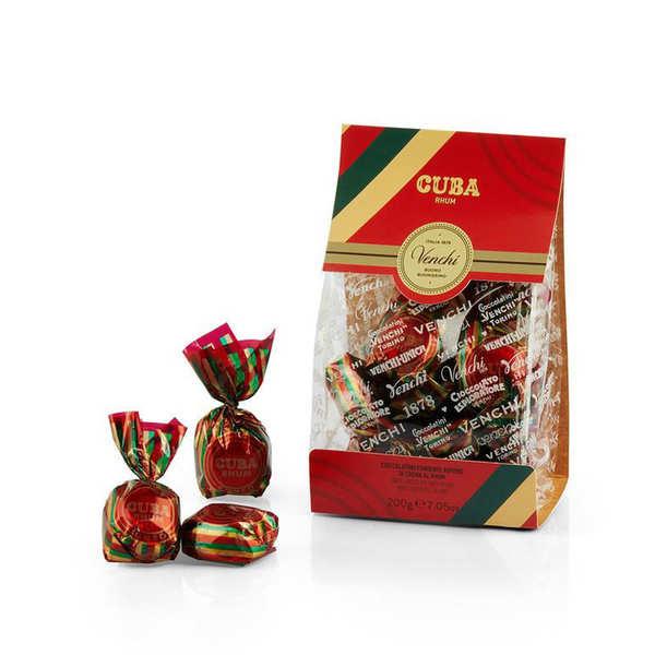 Venchi Chocolat noir fourré au Rhum - Cuba Rhum en sachet cadeau - Sachet 200g