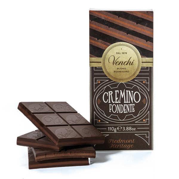 Venchi Tablette chocolat noir et Gianduja - cremino extra noir - Lot de 3 tablettes