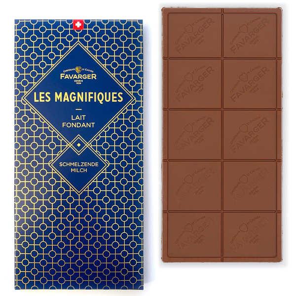 Favarger Tablette de chocolat au lait suisse - Les Magnifiques - Tablette 100g