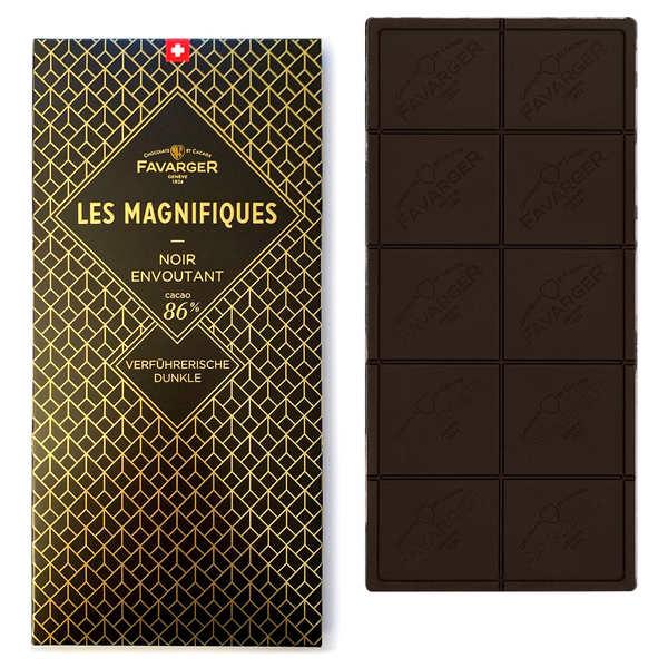 Favarger Tablette chocolat noir 86% - Les Magnifiques - Tablette 100g
