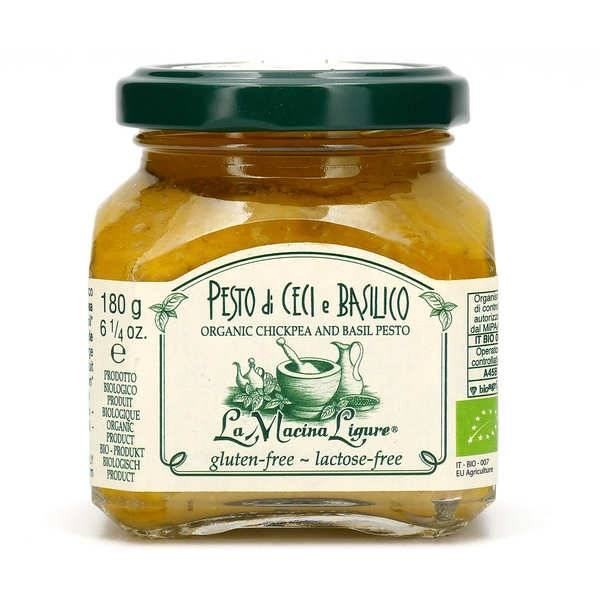 La Macina Ligure Pesto de pois chiche et basilic bio - Pot 180g