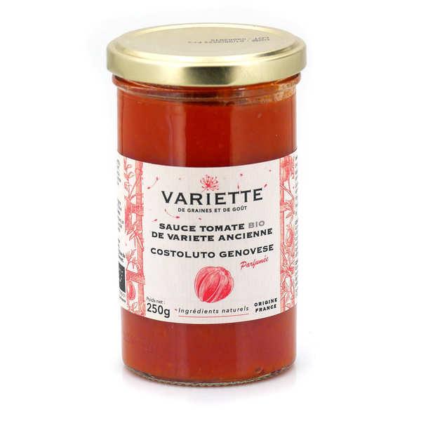 Variette Sauce tomate bio de variété ancienne Costoluto Genovese rouge - 3 pots de 250g