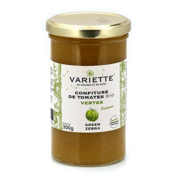 Variette Confiture de tomate bio de variété ancienne Green Zebra verte - Pot 300g