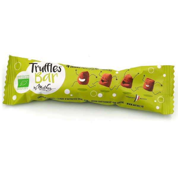Chocolat Mathez Truffes Bar Bio - Etui de truffes fantaisie au chocolat bio - 6 sachets de 34g
