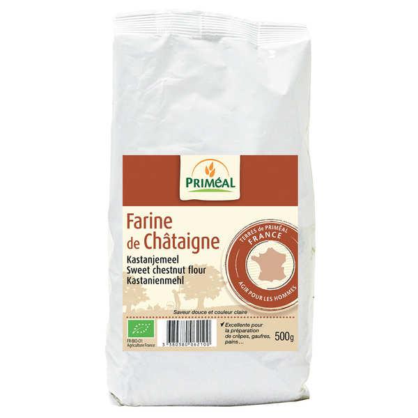 Priméal Farine de châtaigne bio - 3 sachets de 500g