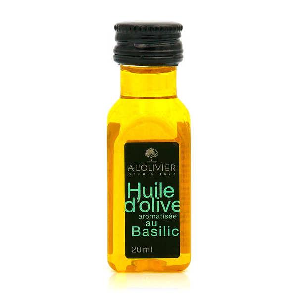 A L'Olivier Mignonnette d'huile d'olive vierge extra au basilic - 12 mignonnettes de 20ml