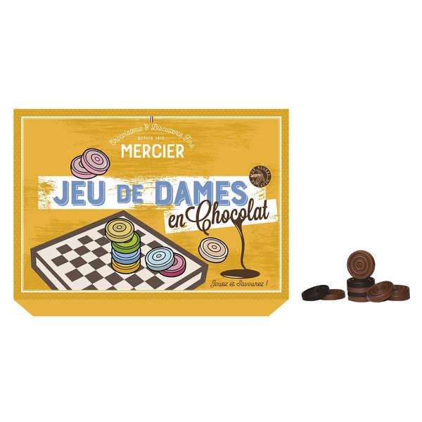 Maison Mercier Jeu de dames en chocolat - Jeu en chocolat