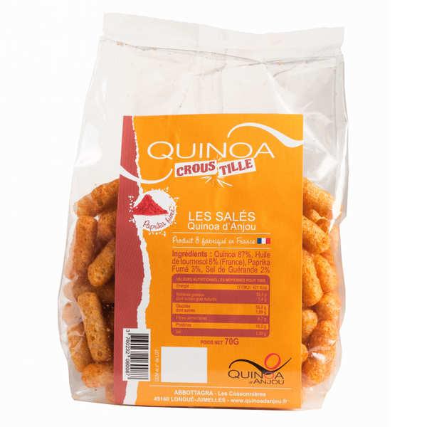 Quinoa d'Anjou Quinoa Croustille - biscuits apéritifs Paprika - Sachet de 70g