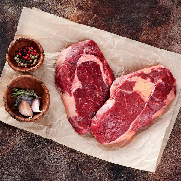 Maison Bousquet Coeur de faux filet maturé tranché de Boeuf de race à viande du Massif Central - 6 pièces de 260g chacune