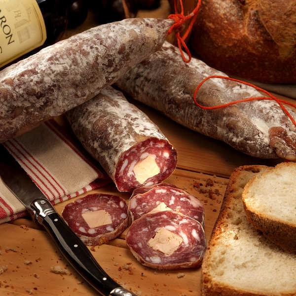 Maison Bousquet Saucisson sec au foie gras - 1 saucisson sec au foie gras (env. 260g)