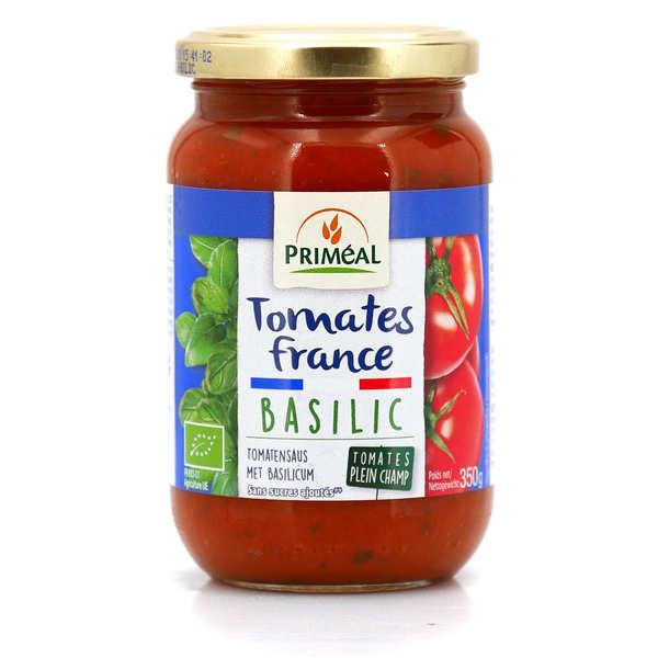 Priméal Sauce tomates de France bio au basilic - Bocal verre 350g