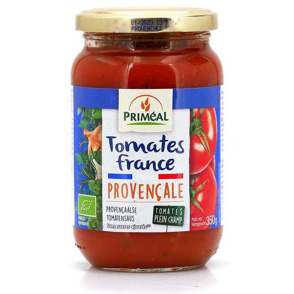 Priméal Sauce tomates de France bio à la provençale - Bocal verre 350g