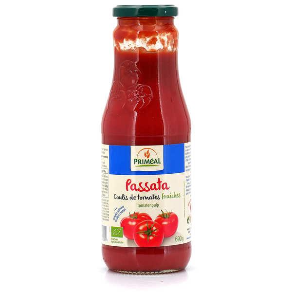 Priméal Passata de tomates bio d'Italie - 3 bocaux de 690g