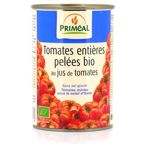 Priméal Tomates entières pelées italiennes bio - Boite 400g (240g net égoutté)