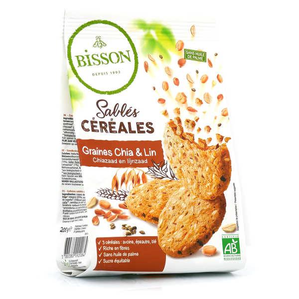 Bisson Sablés bio céréales graines de chia & lin - Sachet 200g