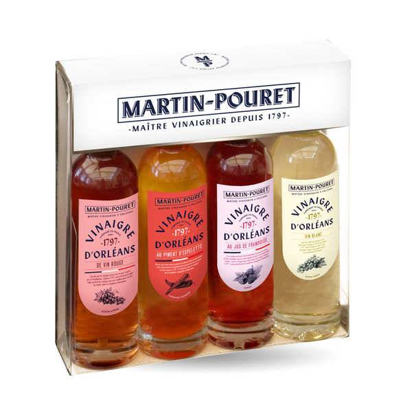 Martin Pouret Coffret découverte 4 vinaigres d'Orléans Martin Pouret - Coffret de 4 bouteilles de 10cl