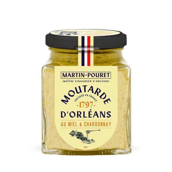 Martin Pouret Moutarde d'Orléans Miel et Chardonnay - Pot 200g