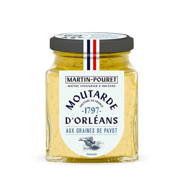 Martin Pouret Moutarde d'Orléans aux graines de pavot - Pot 200g