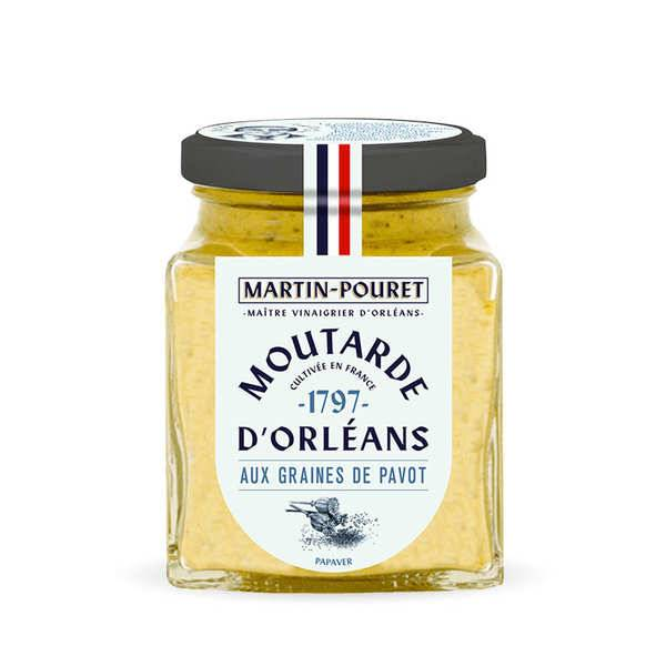 Martin Pouret Moutarde d'Orléans aux graines de pavot - Lot de 3 pots 200g