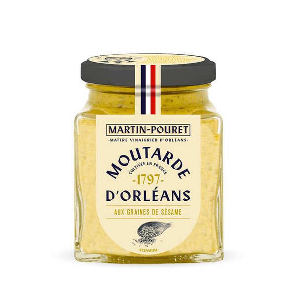 Martin Pouret Moutarde d'Orléans aux Graines de Sésame - Pot 200g