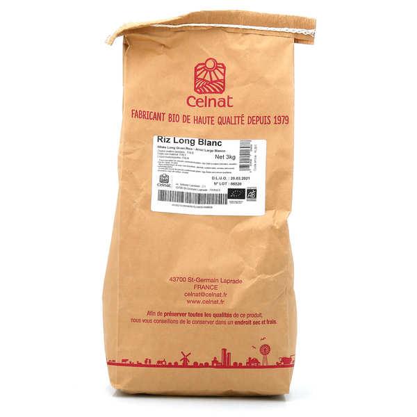Celnat Riz long blanc bio sac de 3kg - Le sac de 3kg