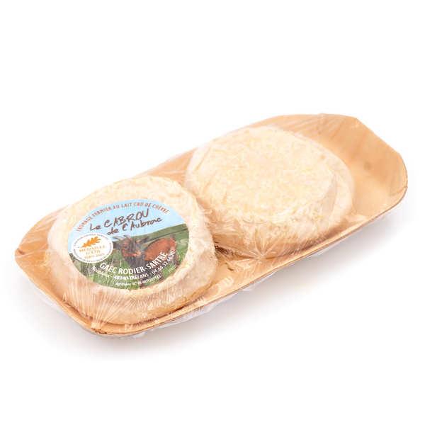 Elevage Rodier-Sartre Cabrou de l'Aubrac - fromage fermier au lait cru de chèvre - Barquette de 2 fromages (env. 150g)