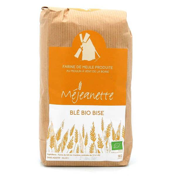 Moulin de la Borie Farine bio de blé bise (équiv. entre T110 et T150) - Farine de meule Méjeanette - Sac 1kg