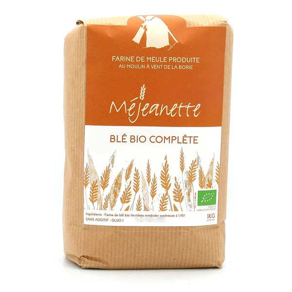 Moulin de la Borie Farine bio complète de blé (T150) - Farine de meule Méjeanette - Sac 1kg