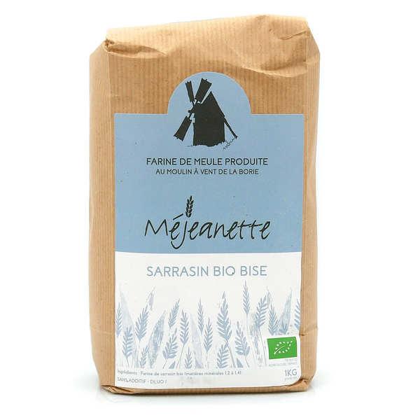 Moulin de la Borie Farine bio de sarrasin bise (équiv. T110 à T150) - Farine de meule Méjeanette - Sac 1kg