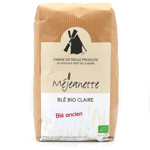 Moulin de la Borie Farine bio de blé ancien claire (Florence Aurore) (equiv. T110) - Farine de meule Méjeanette - Sac 5kg
