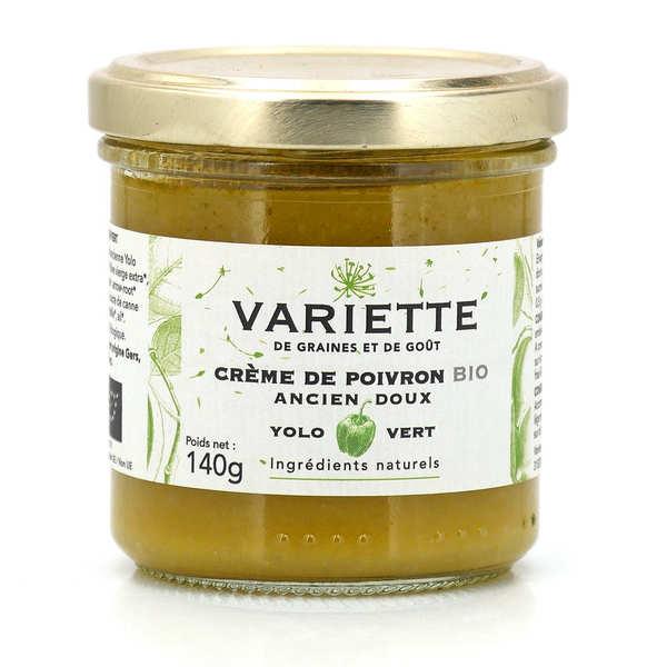 Variette Crème bio de poivron ancien et doux Yolo vert - Bocal de 140g