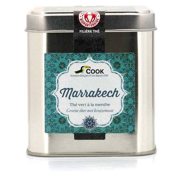Cook - Herbier de France Marrakech - Thé vert à la menthe bio vrac - Boite métallique 120g