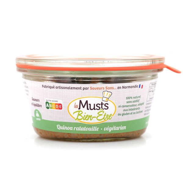 Les Musts Bien Etre Quinoa à la ratatouille - entrée végétarienne sans gluten et sans lactose - Pot de 150g