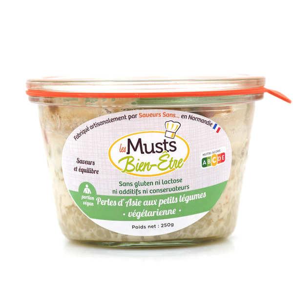 Les Musts Bien Etre Perles d'Asie aux petits légumes - plat cuisiné végan sans gluten et sans lactose - Pot de 250g