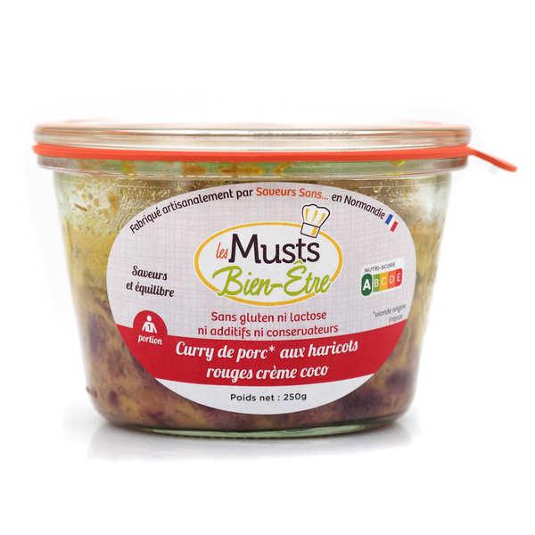Les Musts Bien Etre Curry de porc haricots rouges et crème coco sans gluten et sans lactose - Pot de 250g