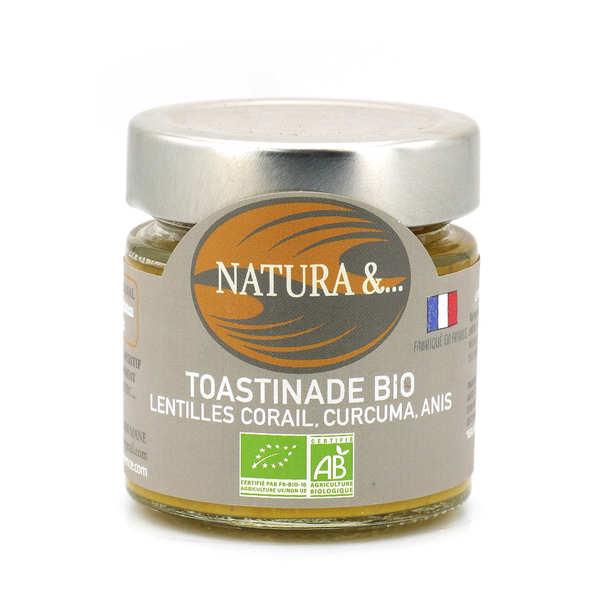 Pellegrain en Provence Toastinette lentilles corail 4 épices bio - Verrine 100g