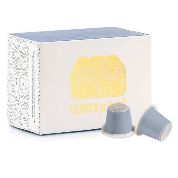 Terres de Café Café Parfait expresso bio - capsules compatibles Nespresso® - Boite de 10 capsules