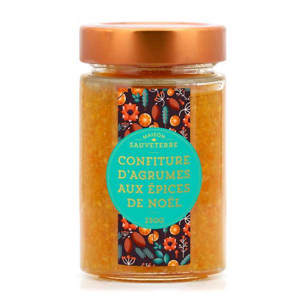 Maison Sauveterre Confiture d'agrumes aux épices de Noël - Pot 230g