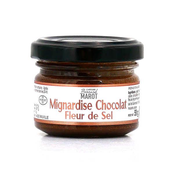 Bernard Marot Mignardise de chocolat à la fleur de sel de Guérande - Pot 50g