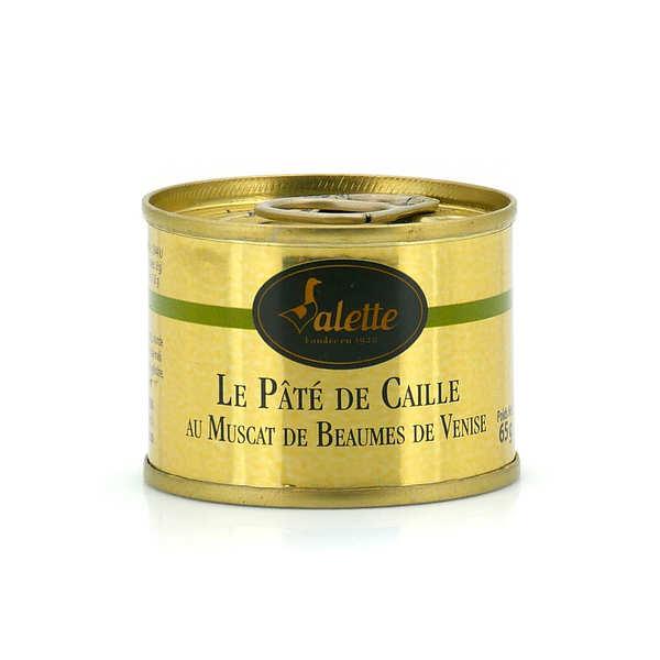 Valette Pâté de caille au Muscat de Beaumes de Venise - Boite 65g
